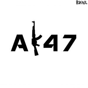 Autocollant sticker fusil ak47
