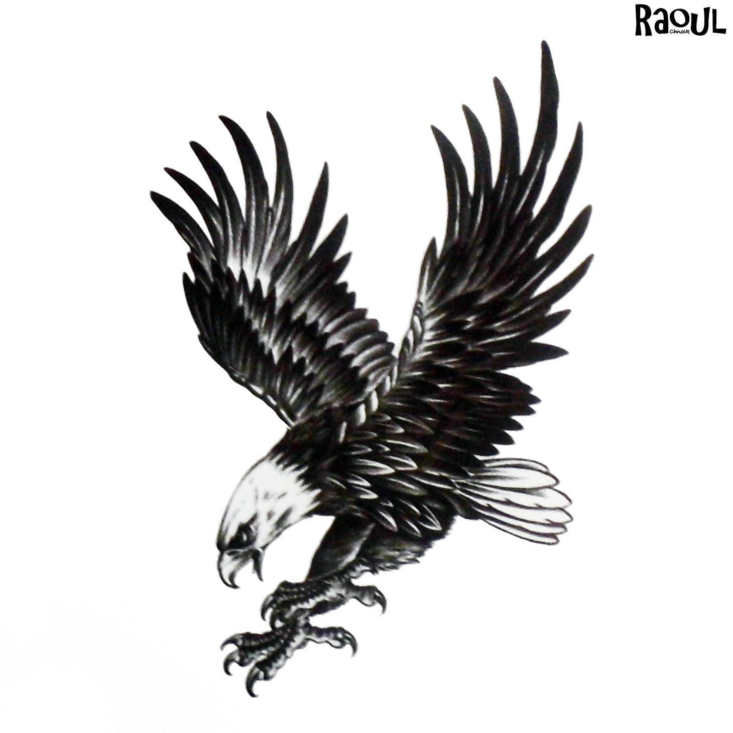 Tatouage éphémère d'aigle