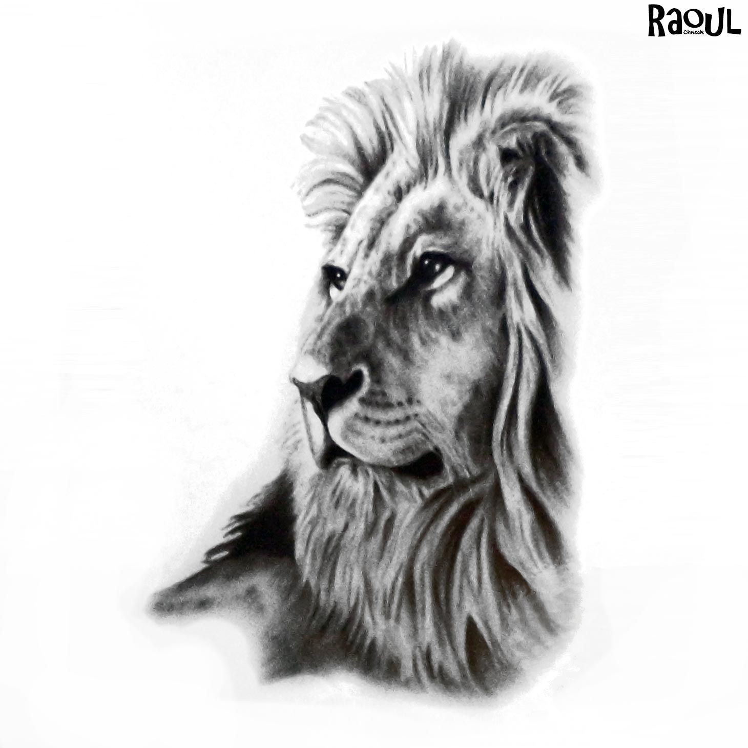 tatouage ph m re d 39 un lion avec coiffe raoul chnock. Black Bedroom Furniture Sets. Home Design Ideas