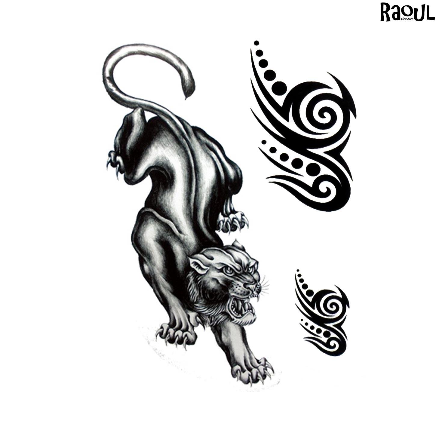 Tatouage éphémère animal tigre
