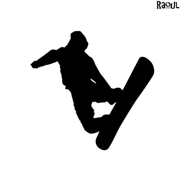Autocollant sticker sport - grab snowboard